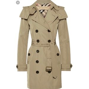 New Burberry Balmoral Packaway hooded trench coat